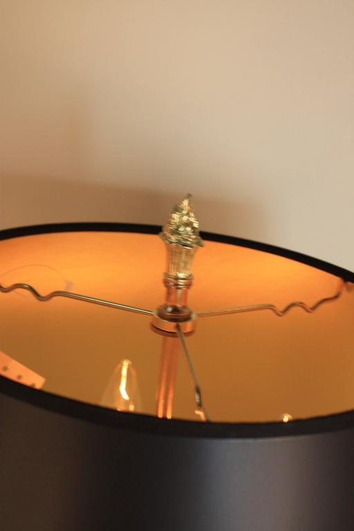 French 19th Century Bronze Candelabra Table Lamp For Sale 1
