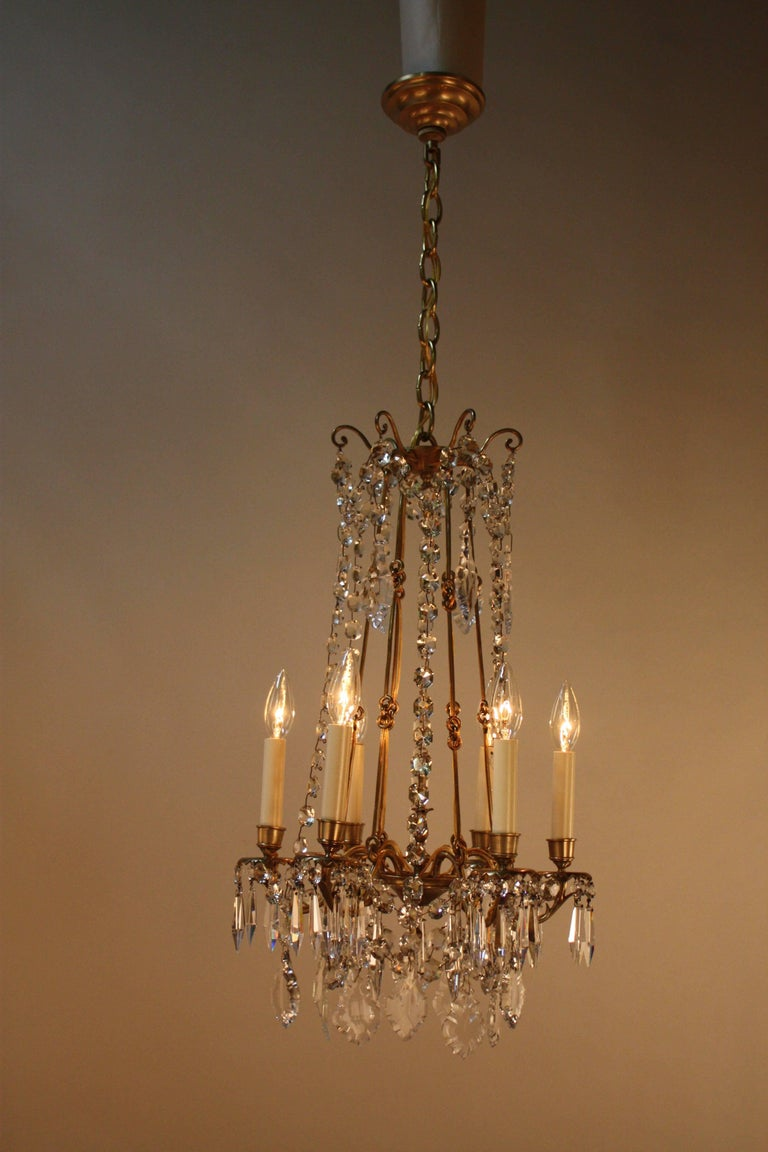 French 19th Crystal Chandelier For Sale At 1stdibs