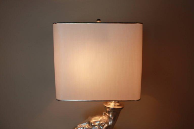 Silver Sculpture Rhyton Vase Table Lamp 9