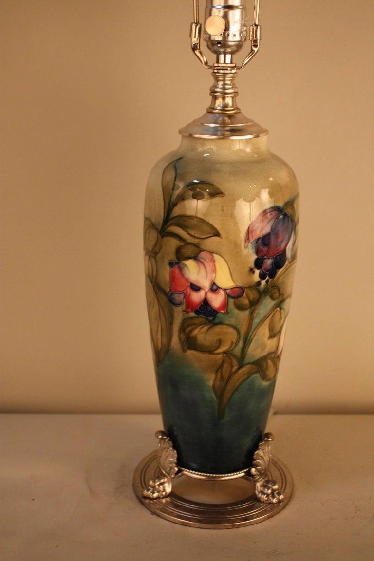 English ceramic art nouveau style table lamp by moorcroft at 1stdibs silvered english ceramic art nouveau style table lamp by moorcroft for sale aloadofball Choice Image