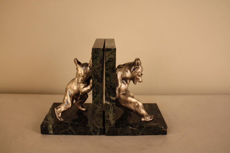 Charles Paillet, 1871-1937, French Bronze Sculpture, Bear Bookends For Sale 2