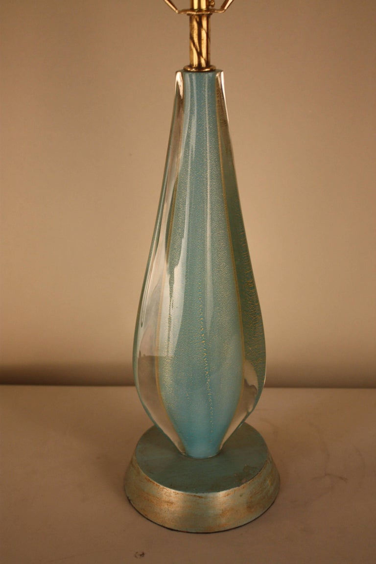 1970s murano glass table lamp at 1stdibs. Black Bedroom Furniture Sets. Home Design Ideas