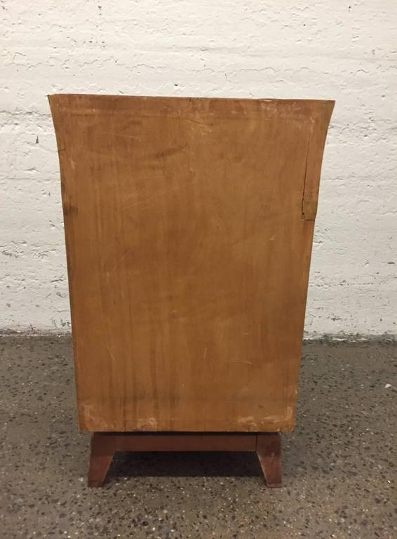 Pair of Parchment Nightstands Manner of Osvaldo Borsani For Sale 3