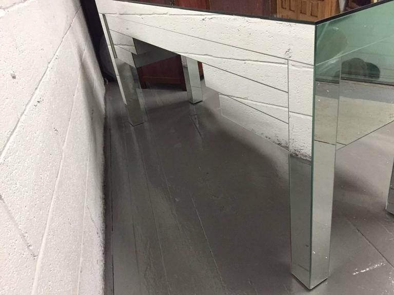 Custom Clad Mirrored Desk, Custom Design For Sale 1