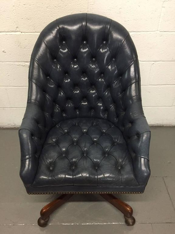 Schafer Bros Tufted Leather Chair 4