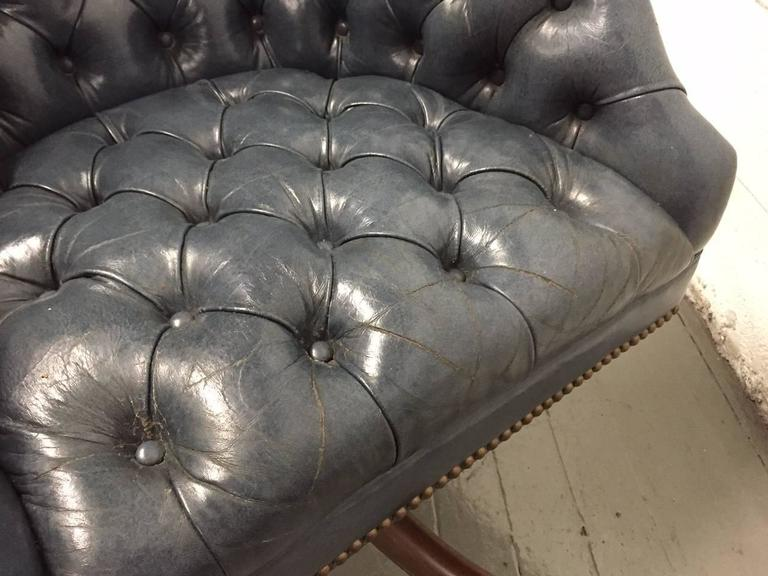 Schafer Bros Tufted Leather Chair 7