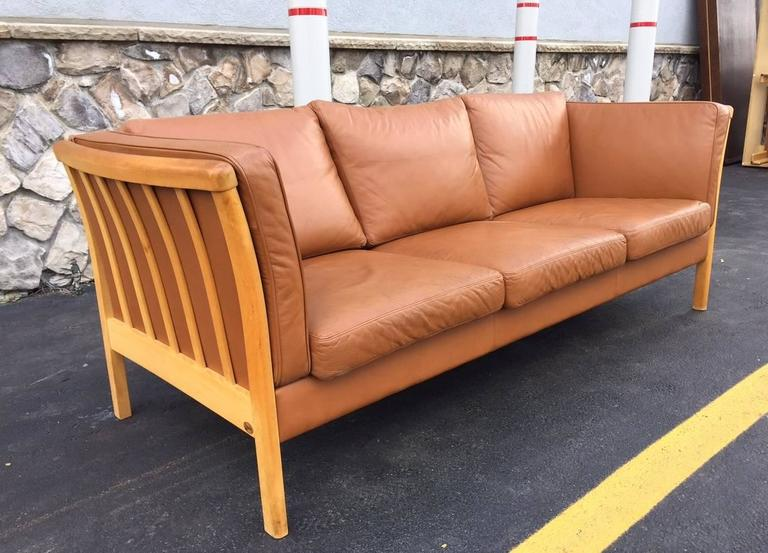 Vintage Danish Leather Sofa By Stouby