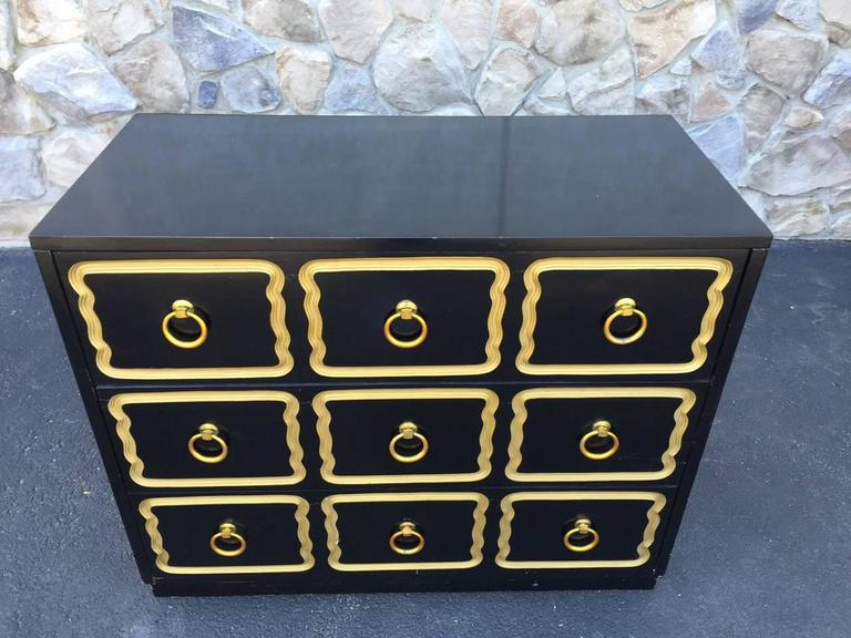 Hollywood Regency Pair Dorothy Draper Style Espana Chests  For Sale