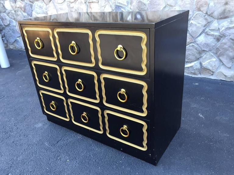 Lacquered Pair Dorothy Draper Style Espana Chests  For Sale