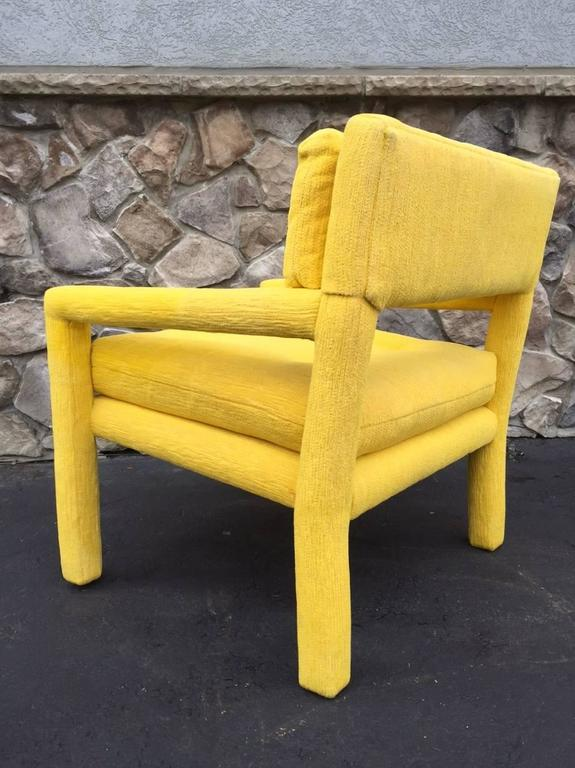 Pair of Vintage Milo Baughman Style Parsons Chairs 4