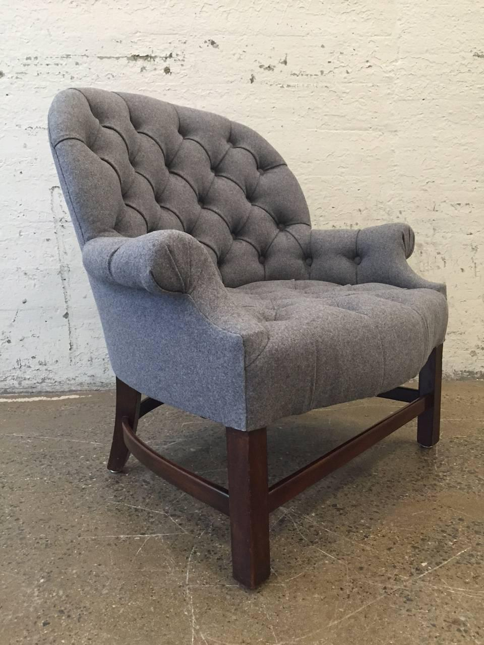 Tufted Chair And Ottoman - Leather Tufted Chair And ...