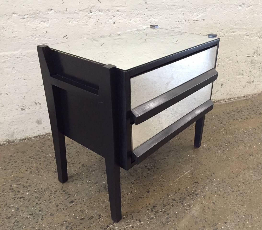 Pair of mid century modern mirrored nightstands for sale for Modern nightstands for sale