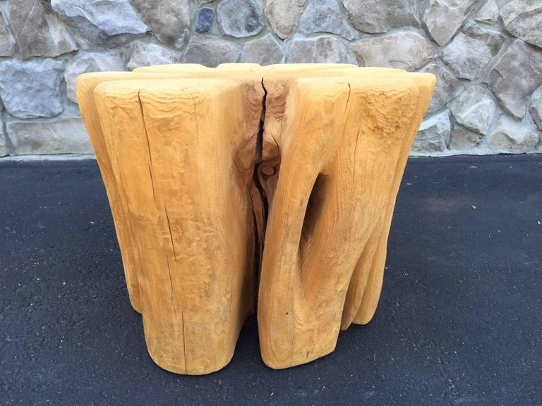 Cypress Wood Tree Trunk Coffee Table For Sale At 1stdibs