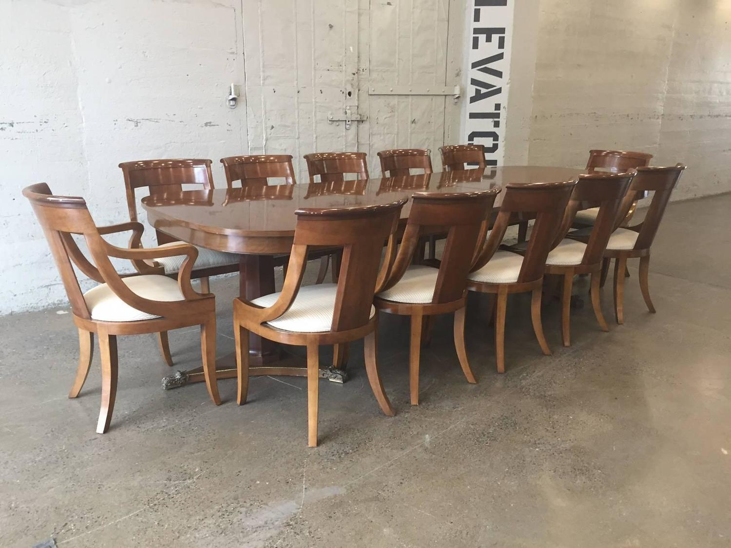 large dining room table by baker for sale at 1stdibs