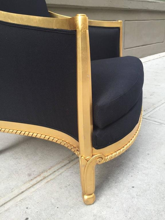 Gold Leaf Italian Giltwood Sculptural Lounge Chair For Sale