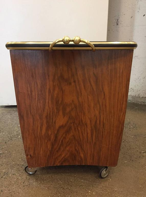 Italian Rosewood Liquor Cabinet Bar Cart For Sale At 1stdibs