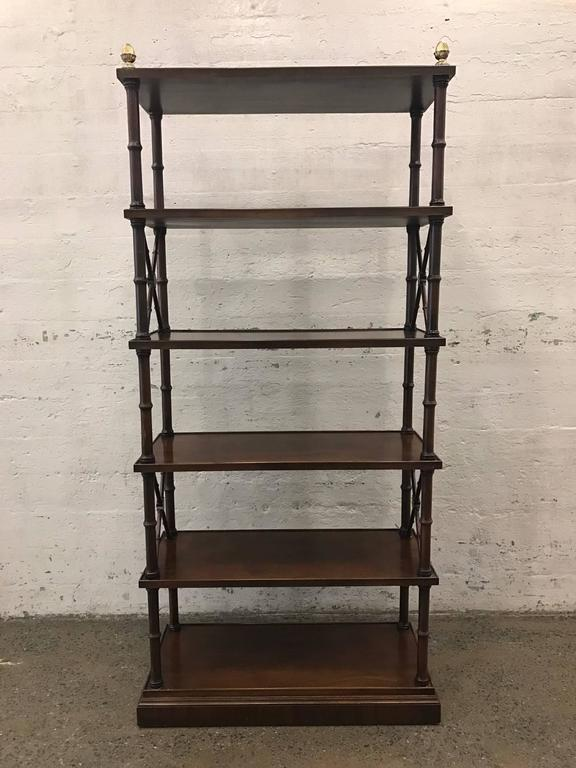 Pair of Directoire style mahogany etageres or bookcases.