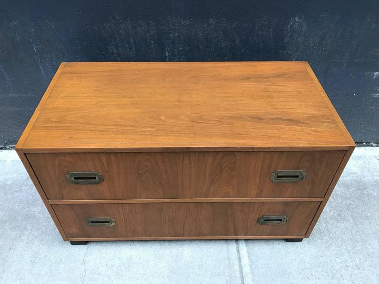 Pair of Walnut Baker Campaign Chests 3