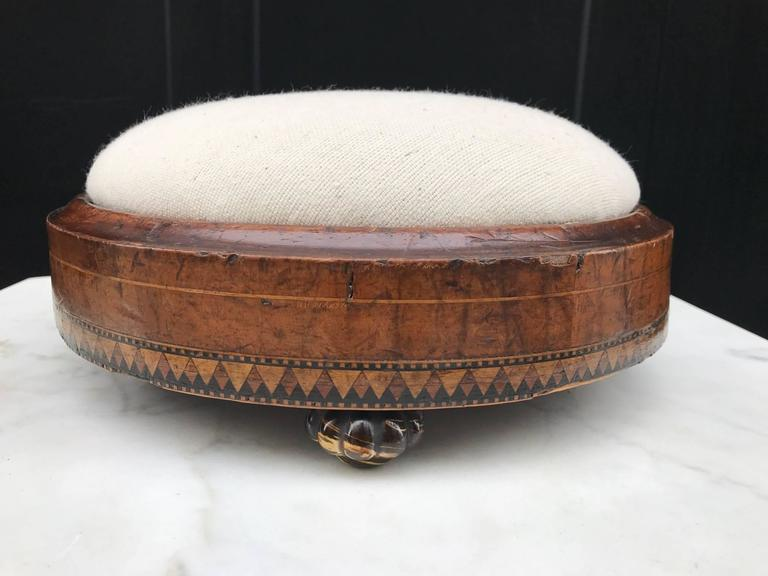Inlay Louis XIV Style Inlaid Footstool For Sale