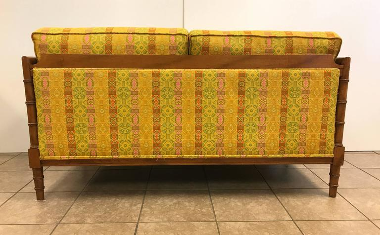 Pair of Hollywood Regency Wooden Faux Bamboo Sofas 4