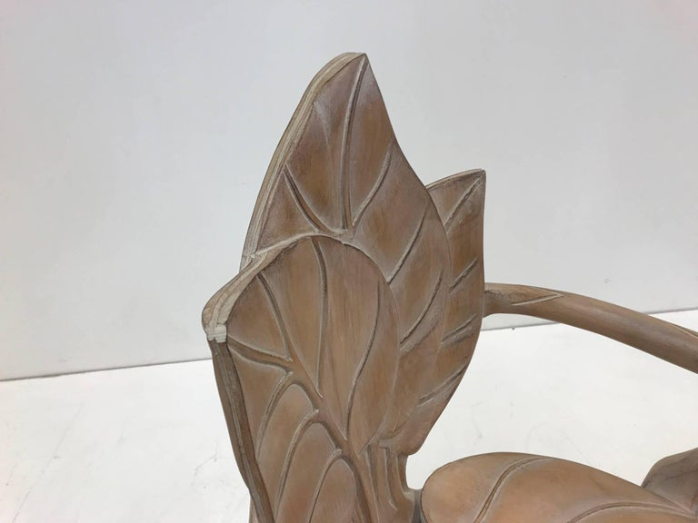Pair of Bartolozzi & Maioli Carved Wooden Leaf Armchairs For Sale 3