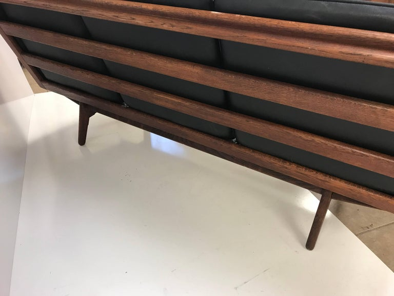 Mid-Century Modern Danish Leather Sofa by Poul Volther For Sale