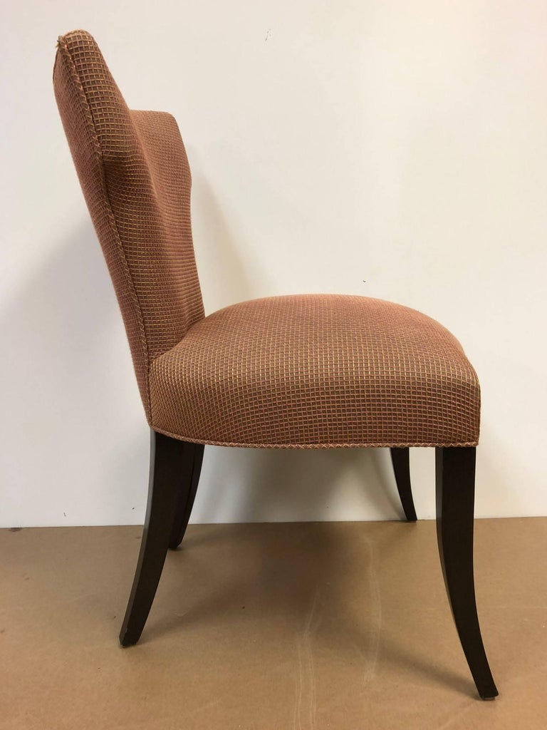 Hollywood Regency Set of Eight Klismos Style Dining Chairs For Sale