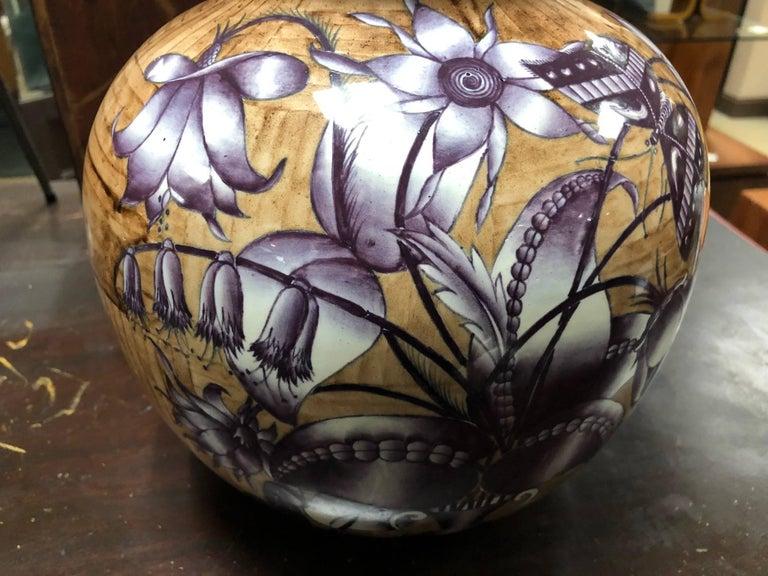 Enameled Gio Ponti for Richard Ginori Ceramic Lamp For Sale