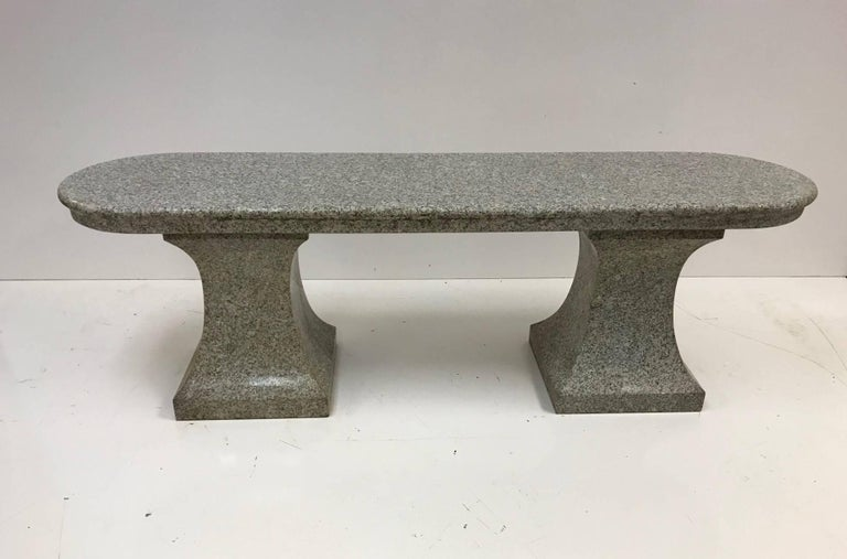 Italian marble garden bench. Bench comes in three parts.