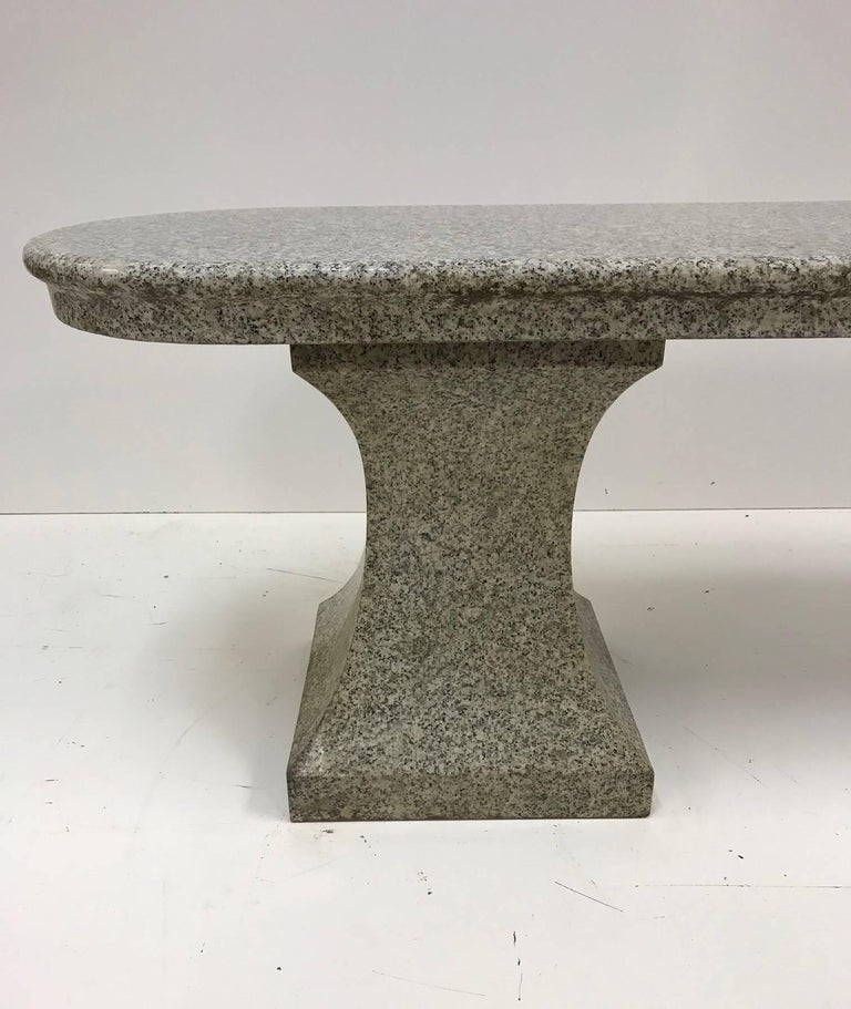 Late 20th Century Italian Marble Garden Bench For Sale