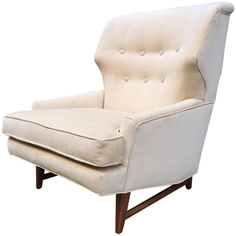 Mid-Century Modern Lounge Chair by Edward Wormley for Dunbar For Sale