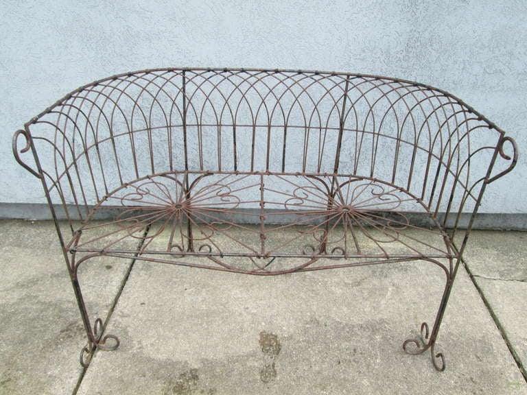 antique wrought iron bench Italian Antique Wrought Iron Bench For Sale at 1stdibs antique wrought iron bench