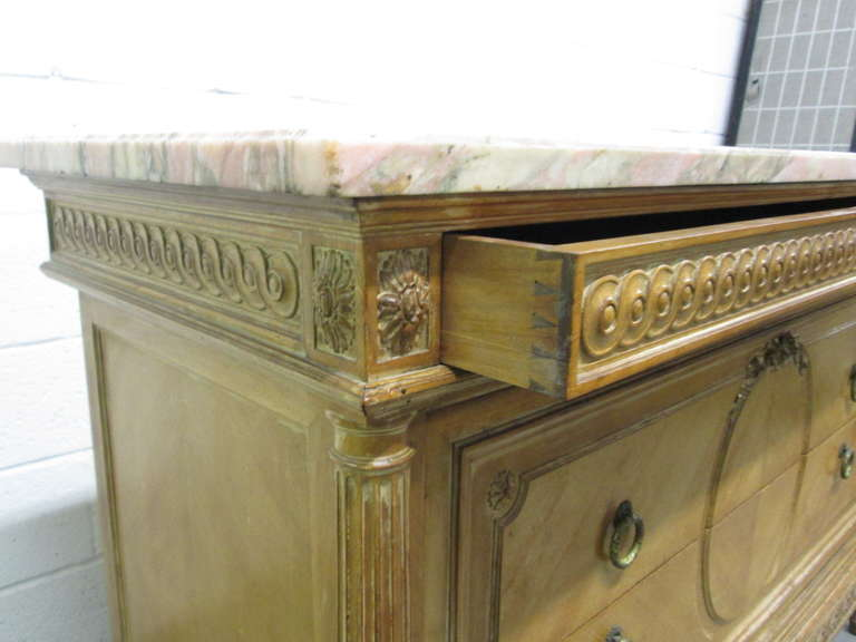 19th Century Antique French Marble-Top Dresser For Sale