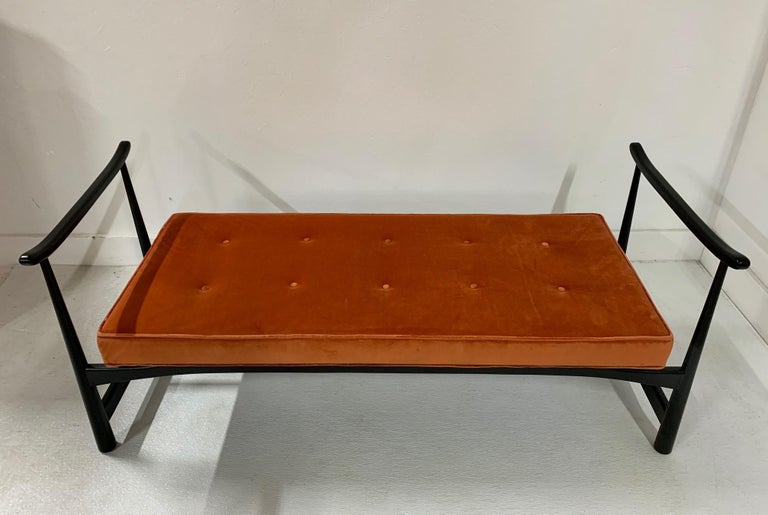 Lacquered 1950s Asian Style Bench For Sale