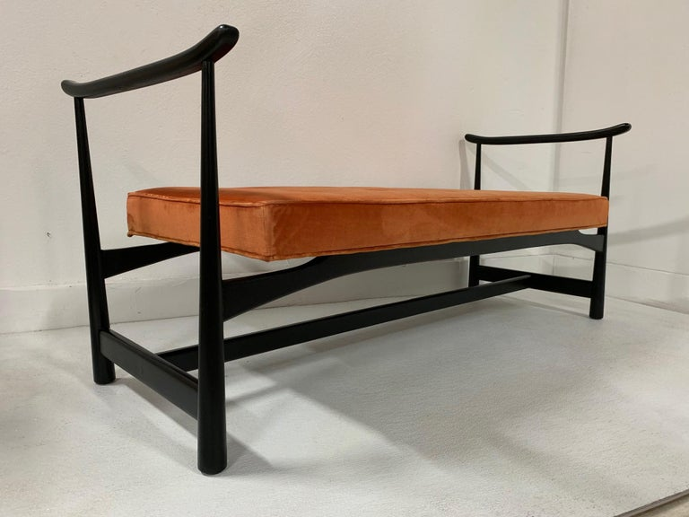 Mid-Century Modern 1950s Asian Style Bench For Sale