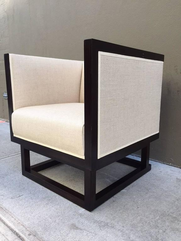 Pair of Cube Lounge Chairs by Josef Hoffmann 3