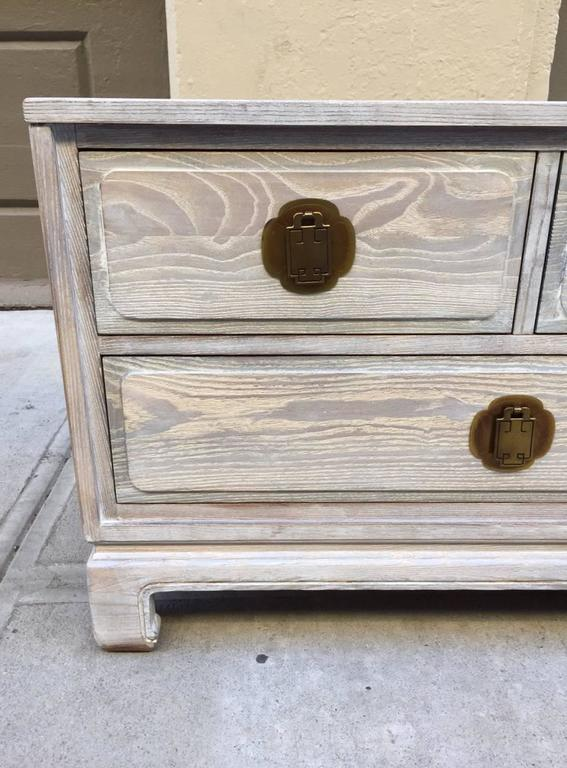 Pair of Cerused Oak Chests 4