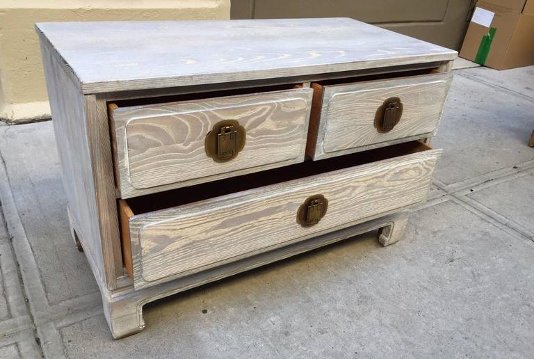Pair of Cerused Oak Chests 5