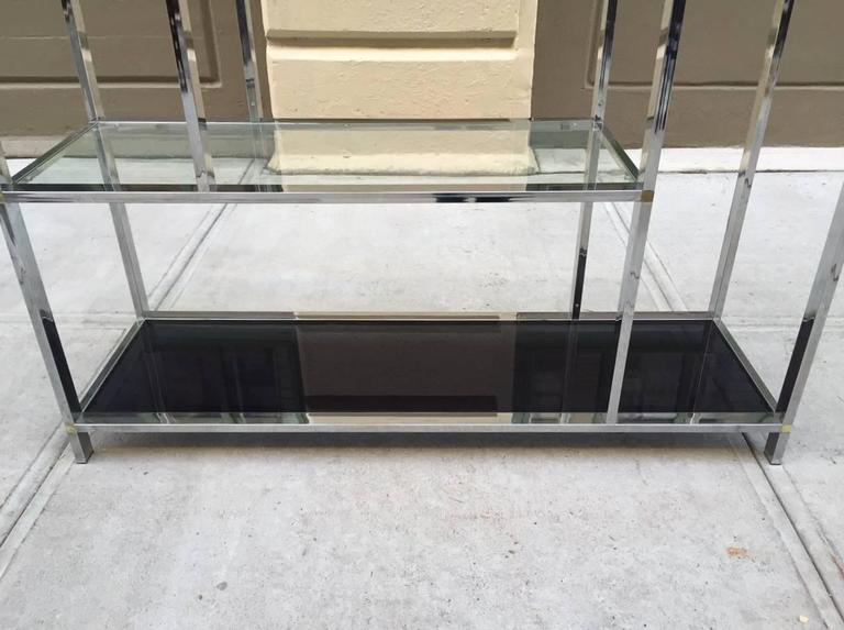 Late 20th Century Large Chrome Etagere Style of Milo Baughman For Sale