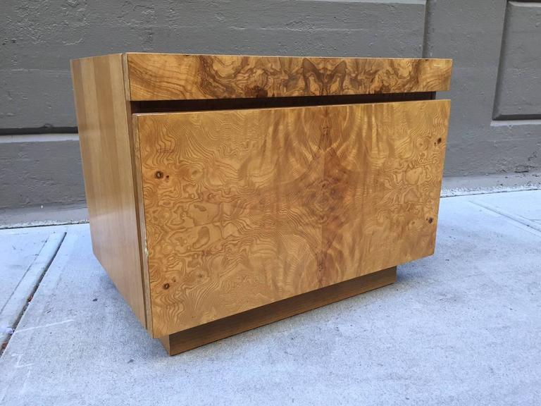 Burl Wood Nightstands Designed By Roland Carter For Lane Furniture. Each  Nightstand Has A Pull