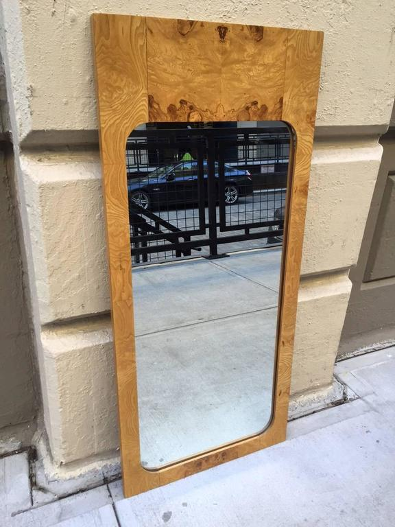 Burl wood mirrors by Milo Baughman.