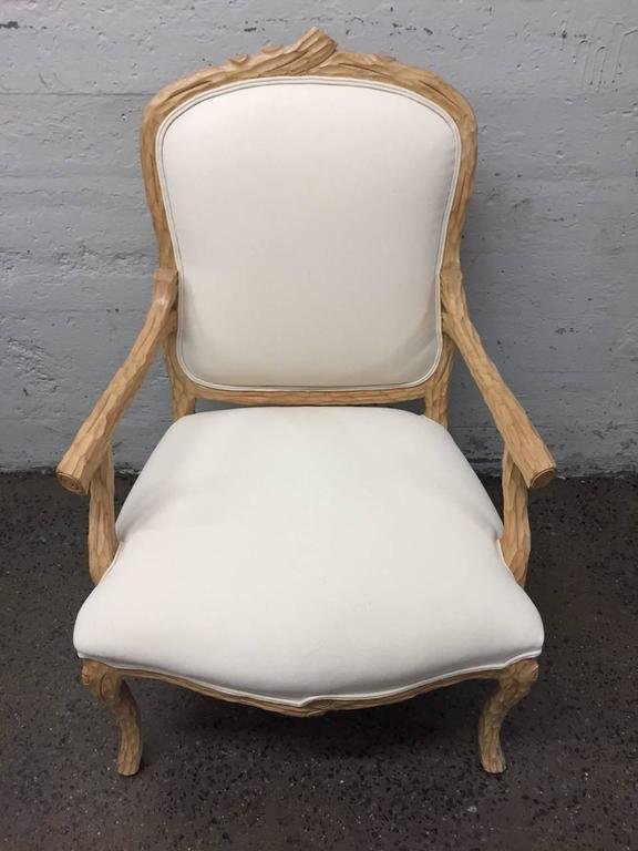 Carved French Country Armchair For Sale 1