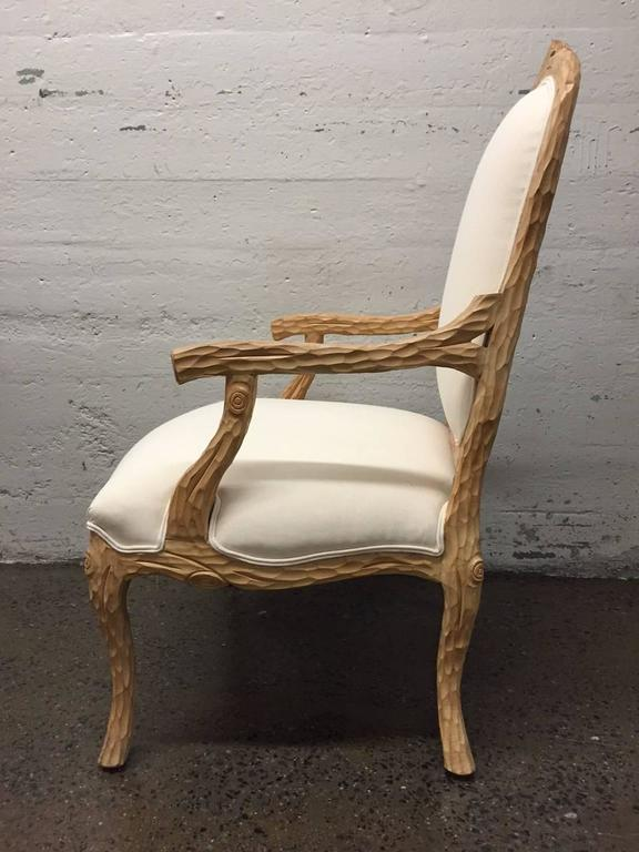 Louis XIV Carved French Country Armchair For Sale