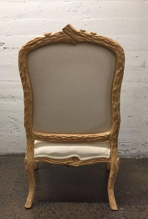 Carved French Country Armchair In Good Condition For Sale In New York, NY