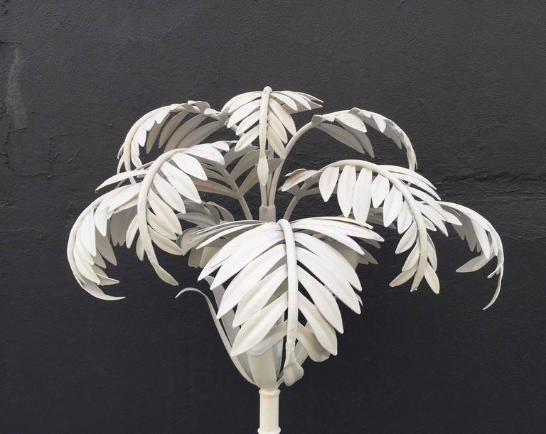 Mid-Century Modern Pair of Vintage Palm Tree Floor Lamps For Sale
