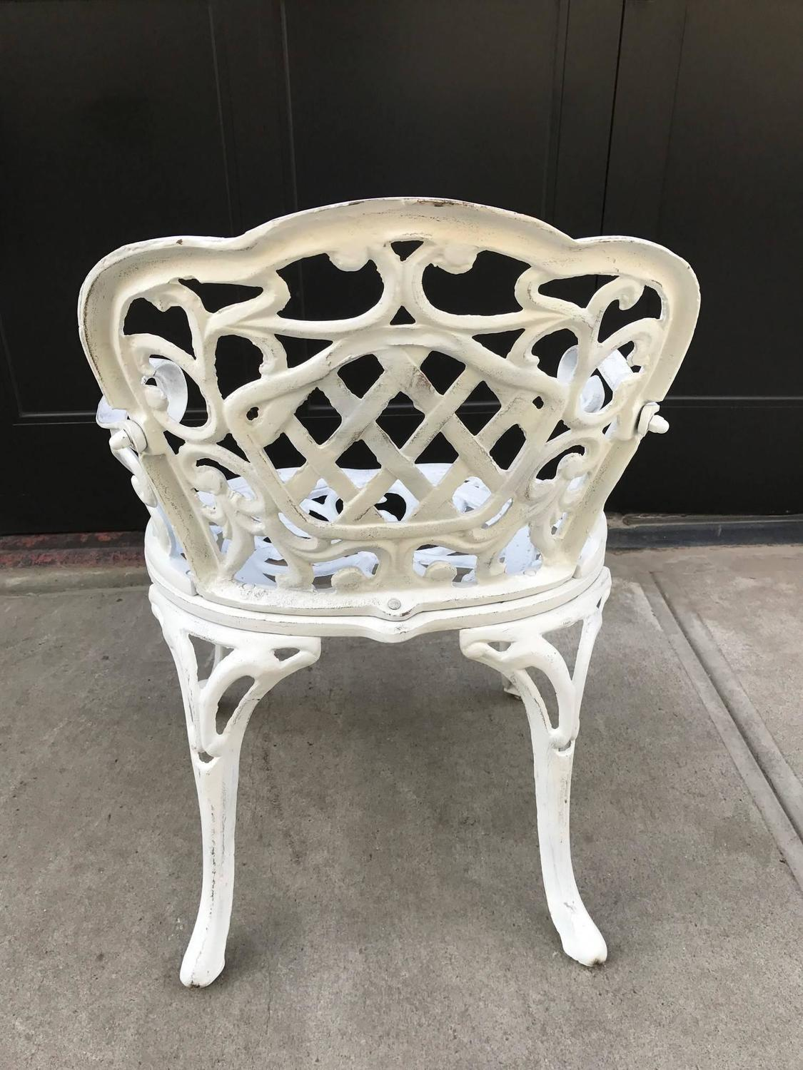 Set of four early cast iron garden chairs for sale at 1stdibs Cast iron garden furniture