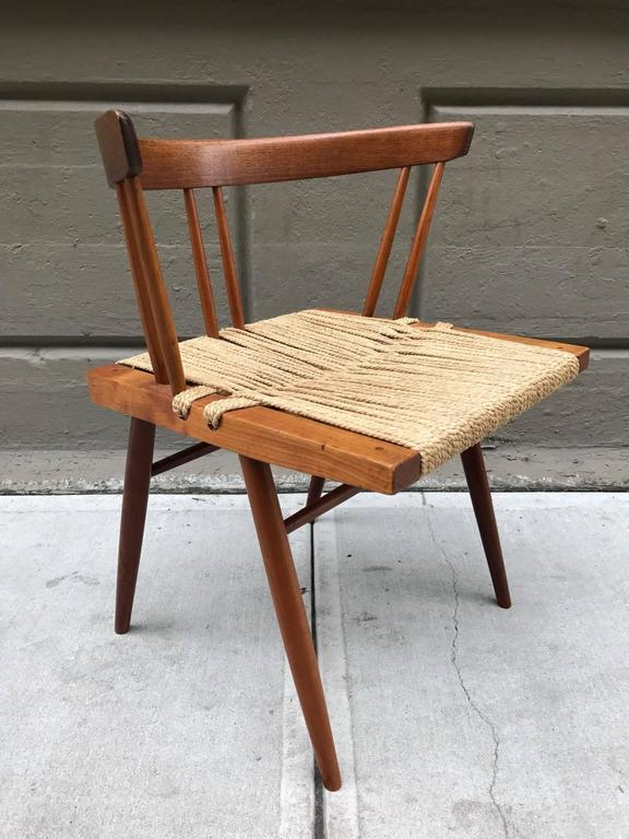 George Nakashima Chairs pair of george nakashima grass seat chairs for sale at 1stdibs