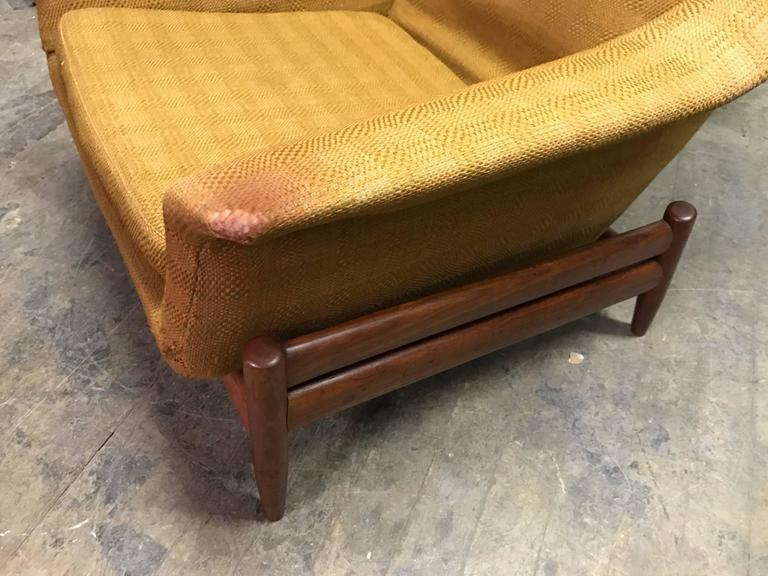 povl dinesen danish modern lounge chair and ottoman for sale at 1stdibs