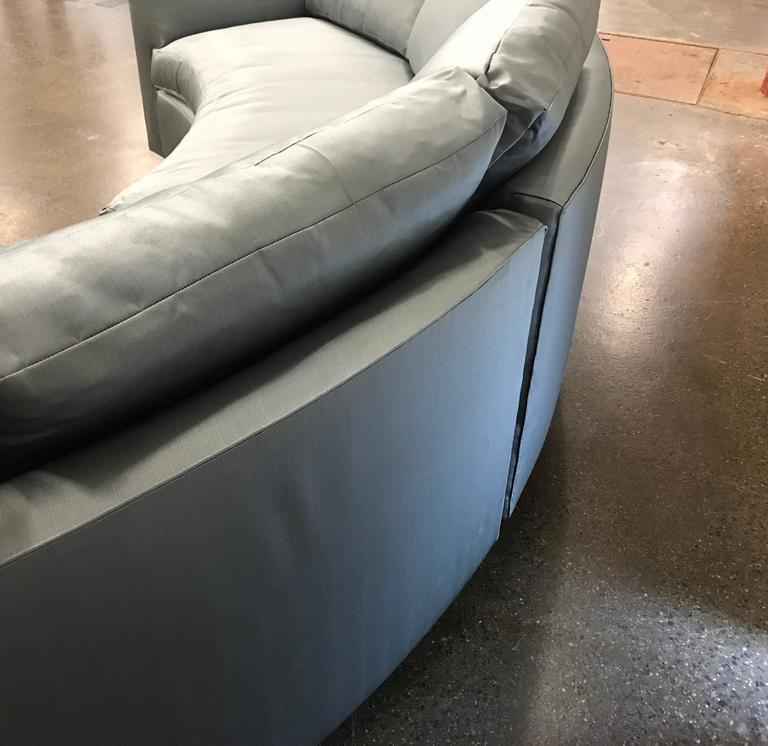 Lacquered Two-Piece Sofa Sectional in Satin  For Sale