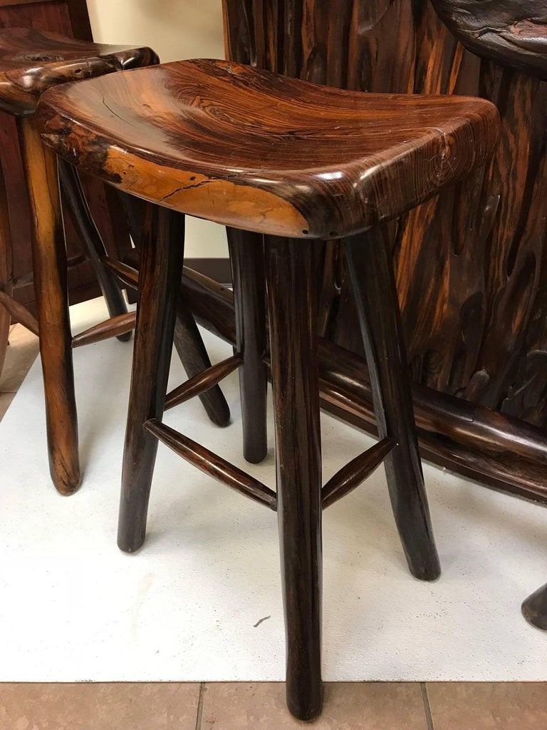 Rare Rosewood Bar And Stools For Sale At 1stdibs